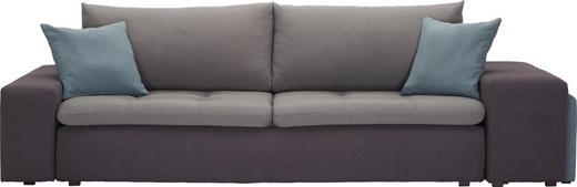 MEGASOFA Webstoff Dunkelgrau, Hellblau, Hellgrau - Dunkelgrau/Hellgrau, Design, Kunststoff/Textil (257-267/69-79/103cm) - Carryhome
