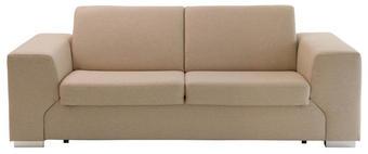 POHOVKA, béžová, dřevěný materiál, kov, textil - barvy chromu/béžová, Konvenční, kov/textil (230/85/98cm) - Venda