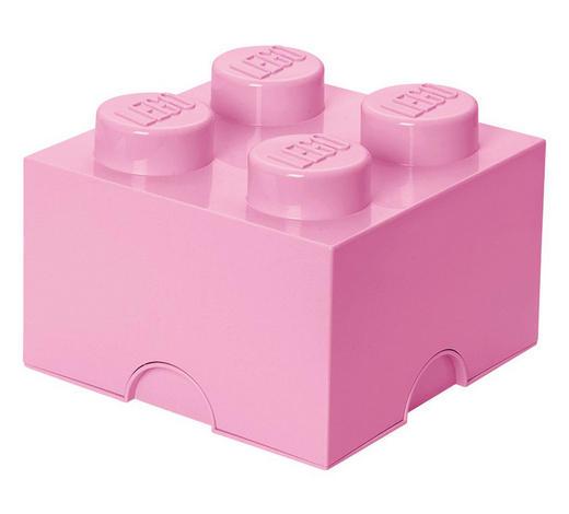 AUFBEWAHRUNGSBOX 25/25/18 cm - Rosa, Trend, Kunststoff (25/25/18cm) - Lego