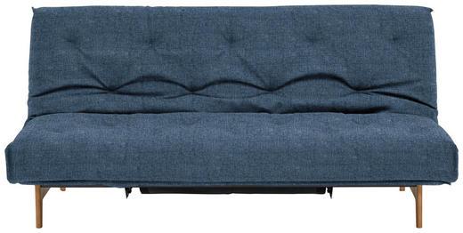 SCHLAFSOFA Blau - Blau/Eichefarben, Design, Holz/Textil (200/86/97cm) - Innovation