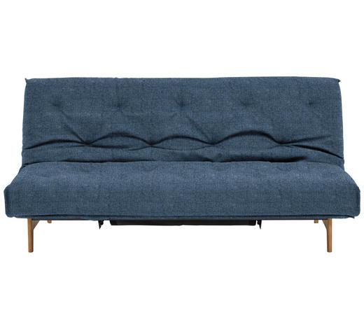 SCHLAFSOFA in Holz, Metall, Textil Blau - Blau/Eichefarben, Design, Holz/Textil (200/86/97cm) - Innovation