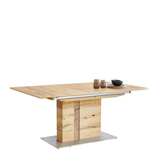 ESSTISCH Eiche furniert rechteckig Edelstahlfarben, Eichefarben - Edelstahlfarben/Eichefarben, Design, Holz/Metall (170/100/75cm) - Venjakob