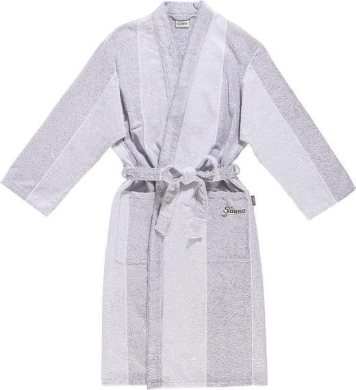 BADEMANTEL  Grau, Silberfarben - Silberfarben/Grau, Basics, Textil (S) - CAWOE
