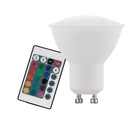 GU10 LED ŽARNICA 10686, RGB - bela/srebrna, Design, umetna masa (5,4cm)