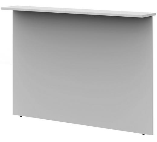 SICHTBLENDE - Hellgrau, Design, Holzwerkstoff (160/112,9/25cm)