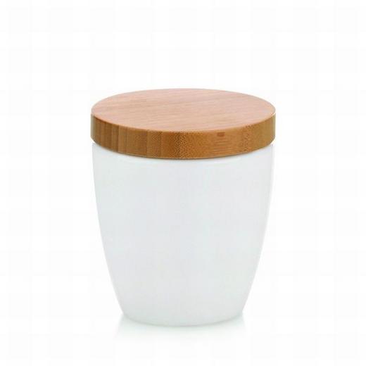 Wattedose - Weiß, Basics, Holz/Keramik (10,5/11cm)