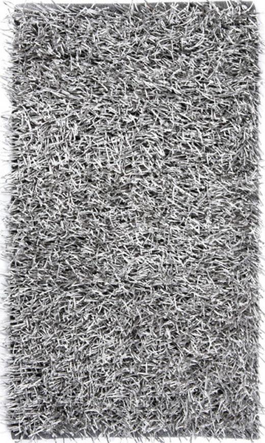 BADEMATTE  Grau, Silberfarben  70/120 cm - Silberfarben/Grau, Textil (70/120cm)