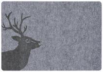PLATZDECKCHEN 35/50 cm Textil  - Grau, LIFESTYLE, Textil (35/50cm) - Landscape