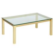 COUCHTISCH in Glas, Metall 110/70/44 cm - Messingfarben, Basics, Glas/Metall (110/70/44cm) - Venda