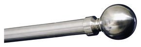 GARDINSTÅNGSET - rostfritt stål-färgad, Basics, metall (130-240cm)