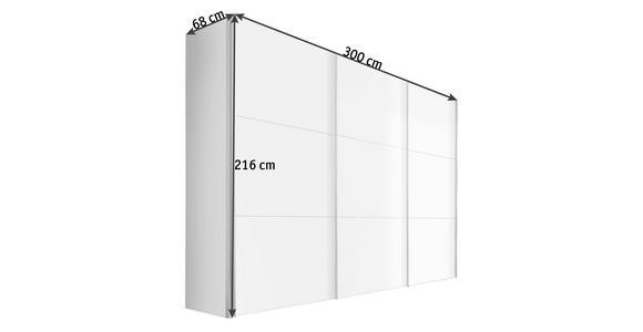 SCHWEBETÜRENSCHRANK in Sonoma Eiche, Weiß - Alufarben/Weiß, KONVENTIONELL, Holzwerkstoff/Metall (300/216/68cm) - Hom`in