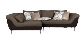 WOHNLANDSCHAFT in Textil Braun, Dunkelbraun  - Dunkelbraun/Naturfarben, Design, Holz/Textil (175/313cm) - Carryhome