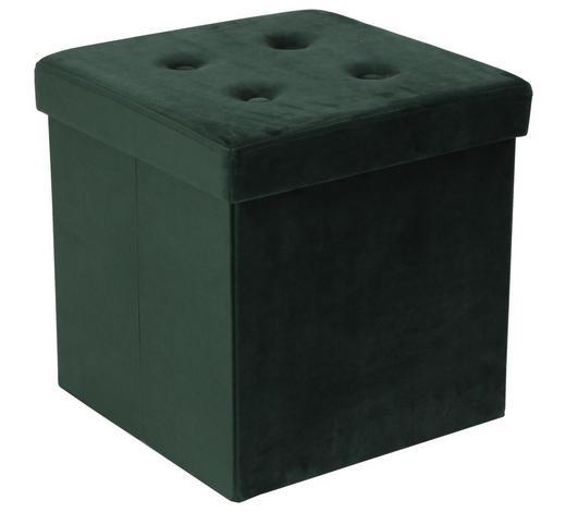 SEDACÍ BOX,  - zelená, Moderní, kompozitní dřevo/textil (38/38/38cm) - Carryhome