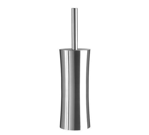 WC-BÜRSTENGARNITUR in Metall - Basics, Kunststoff/Metall (10/38cm) - Sadena