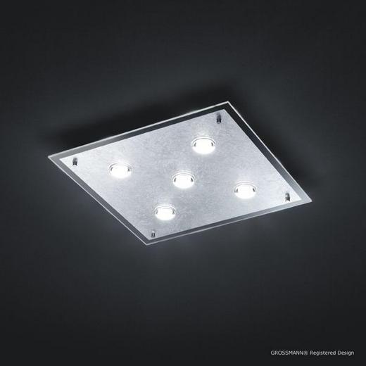 LED-DECKENLEUCHTE - LIFESTYLE, Metall (36/36/7cm)