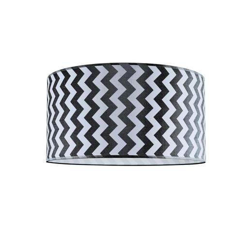STÍNIDLO, černá, bílá - bílá/černá, Basics, kov/textil (30/20cm) - Marama
