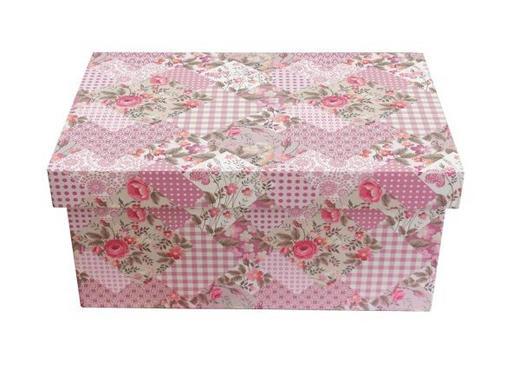 DEKOBOX 22/18/11 cm - Rosa, Trend, Holzwerkstoff/Kunststoff (22/18/11cm) - Ambia Home