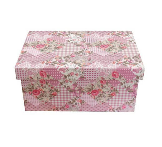 DEKOBOX 29/22/14 cm - Rosa, Trend, Holzwerkstoff/Kunststoff (29/22/14cm) - Ambia Home
