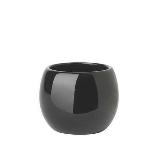 MUNDSPÜLBECHER - Schwarz, Design, Keramik (9/7.5cm)