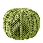 POUF Textilgeflecht Grün - Grün, Design, Textil (50/35/50cm) - CARRYHOME
