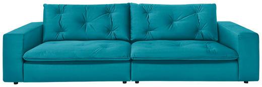 SOFA in Textil Petrol - Petrol/Schwarz, Design, Kunststoff/Textil (290 87 122cm) - Ambiente