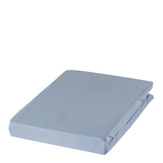 SPANNBETTTUCH Zwirn-Jersey Hellblau bügelfrei, für Wasserbetten geeignet - Hellblau, Basics, Textil (100/200cm) - Estella