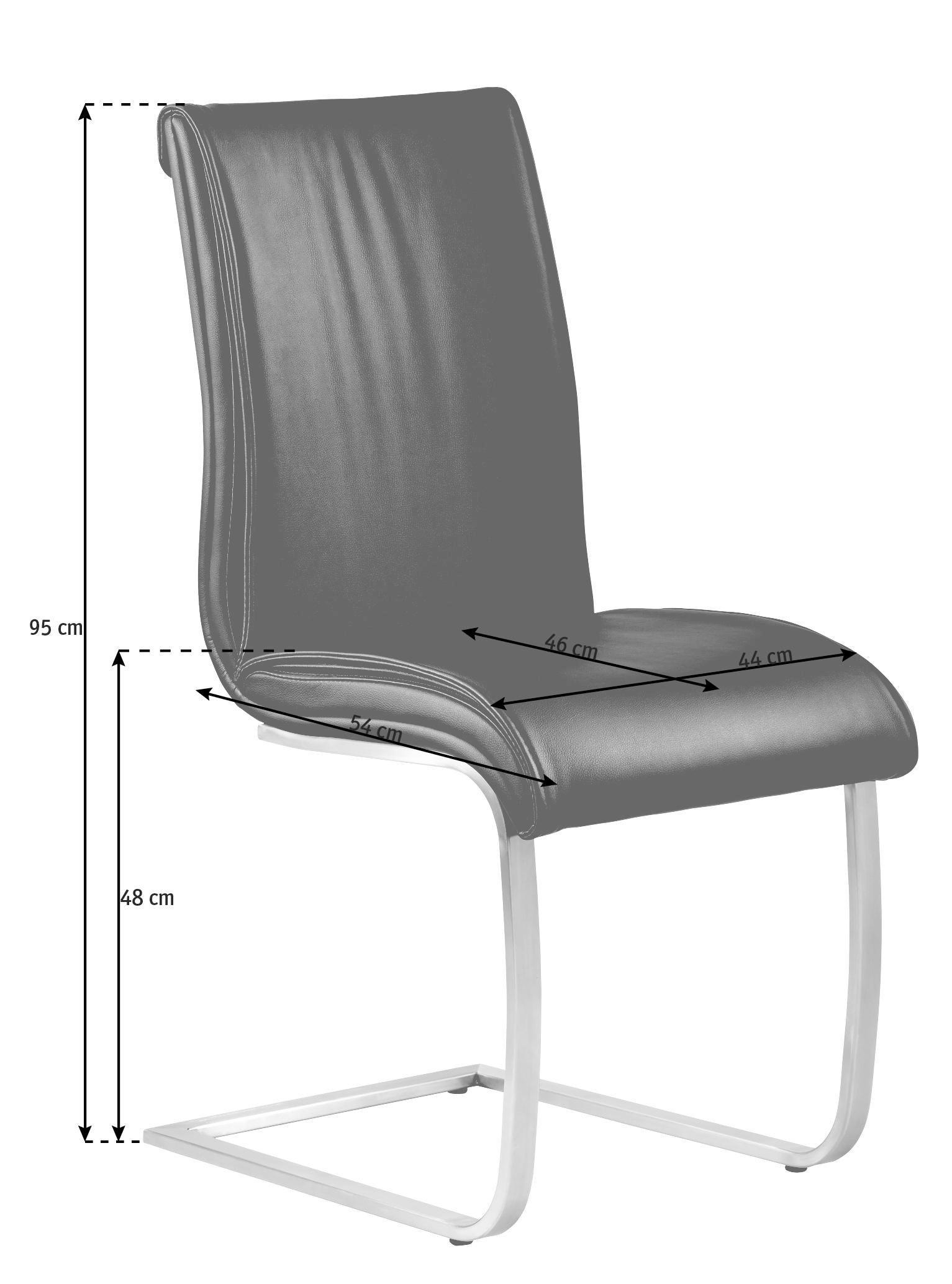 SCHWINGSTUHL Lederlook Schwarz - Schwarz, Design, Textil/Metall (44/95/54cm) - VALDERA