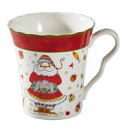 LONČEK ZA KAVO CHRISTMAS DREAM - rdeča/večbarvno, Konvencionalno, keramika (0,35l) - X-Mas