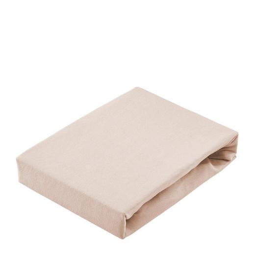 SPANNBETTTUCH Jersey Taupe - Taupe, Basics, Textil (200/200cm) - Bio:Vio