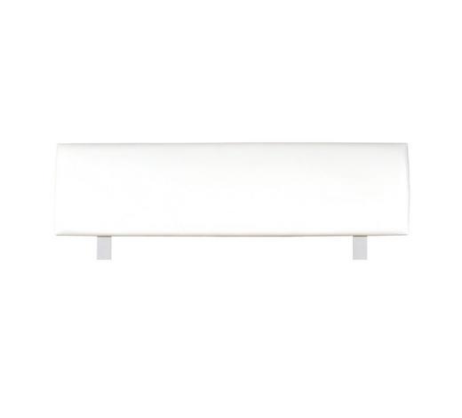 KOPFTEIL  146/52 cm Weiß, Alufarben  - Alufarben/Weiß, Design, Textil/Metall (146/52cm) - Xora