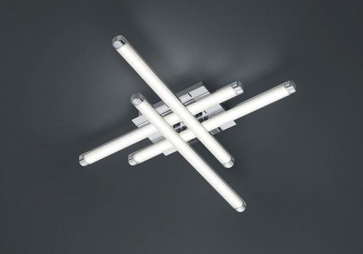 LED-DECKENLEUCHTE - Chromfarben, Design, Kunststoff/Metall (50,0/7,0/50,0cm)