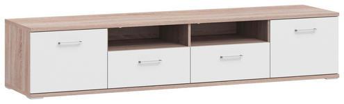 LOWBOARD 200/41,2/49 cm - Eichefarben/Alufarben, Basics, Holzwerkstoff/Metall (200/41,2/49cm) - Xora