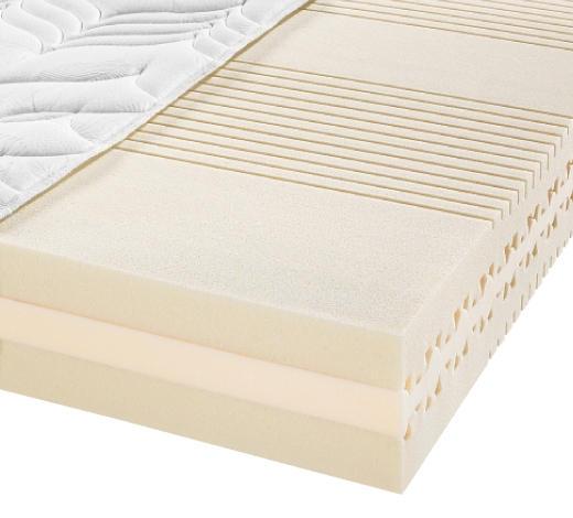 KALTSCHAUMMATRATZE 90/190 cm - Weiß, Basics, Textil (90/190cm) - Sembella