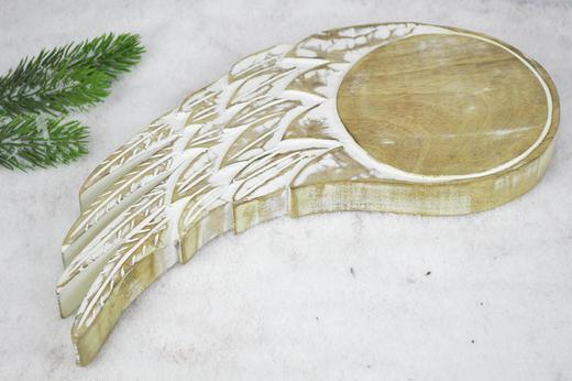 ENGELSFLÜGEL  Braun, Weiß - Braun/Weiß, Holz (69/2,5/32cm)