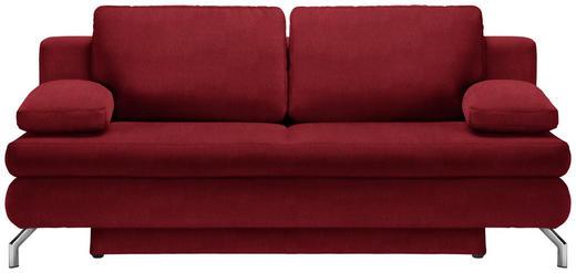 SCHLAFSOFA in Textil Rot - Chromfarben/Rot, Design, Textil/Metall (200/91/92cm) - Novel