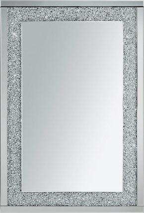 VÄGGSPEGEL - silver, Design, trä/glas (80/120/4cm) - Mömax modern living