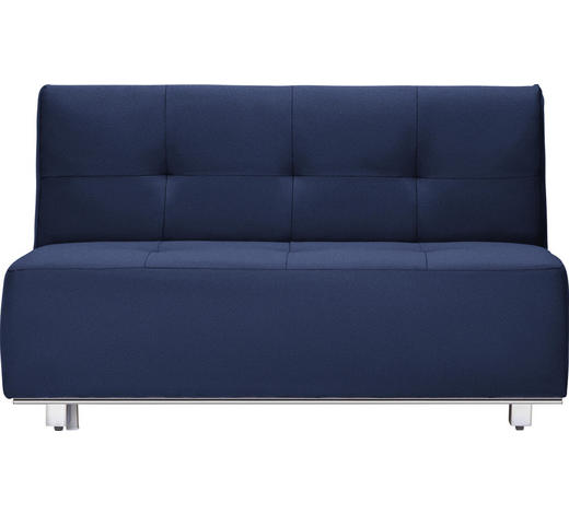 SCHLAFSOFA in Textil Blau - Chromfarben/Blau, Design, Textil/Metall (144/88/103cm) - Novel