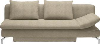 SCHLAFSOFA Beige - Beige/Alufarben, Design, Textil/Metall (213/90/94cm) - DIETER KNOLL