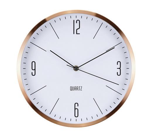WANDUHR 30 cm - Kupferfarben, Basics, Glas/Kunststoff (30cm) - Boxxx