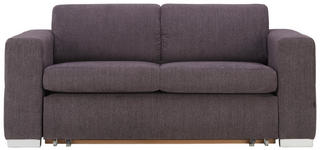 SCHLAFSOFA in Textil Anthrazit  - Anthrazit/Alufarben, KONVENTIONELL, Kunststoff/Textil (190/83/98cm) - Carryhome