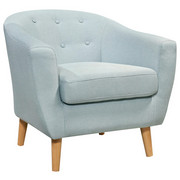 FOTELJA - plava, Design, drvo/tekstil (81/74/75cm) - Ti`me