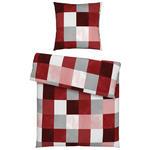 BETTWÄSCHE Biber Rot  - Rot, KONVENTIONELL, Textil (135/200cm) - Esposa