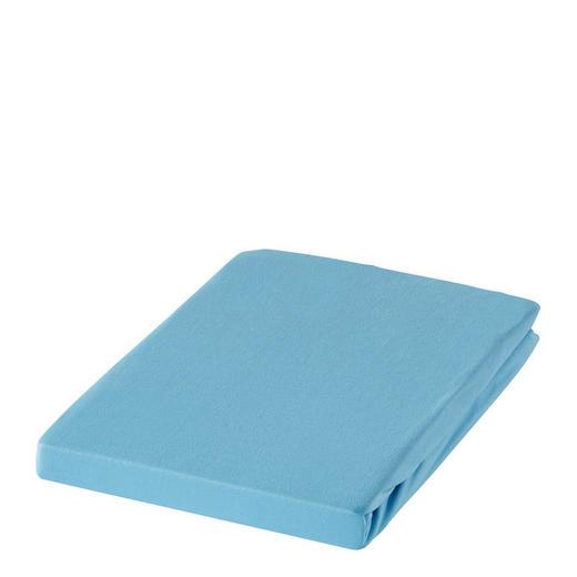 SPANNBETTTUCH Zwirn-Jersey Türkis bügelfrei, für Wasserbetten geeignet - Türkis, Basics, Textil (100/200cm) - ESTELLA