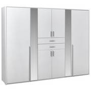 SKŘÍŇ ŠATNÍ, bílá - bílá/barvy hliníku, Konvenční, kompozitní dřevo/umělá hmota (270/210/58cm) - Carryhome