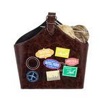 MAGAZINBOX - Multicolor/Braun, LIFESTYLE, Textil (25/27/13cm) - Ambia Home