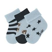 Babysöckchen 3-er Pack - Hellblau, Basics, Textil (13/14null) - Sterntaler