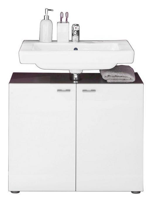 WASCHBECKENUNTERSCHRANK Weiß - Anthrazit/Graphitfarben, Design, Holzwerkstoff/Kunststoff (72/63/35cm) - Carryhome