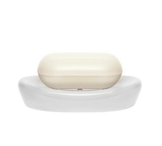 SEIFENSCHALE Keramik - Weiß, Basics, Keramik (12.5/2.5/8.5cm) - Sadena