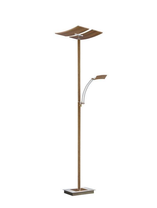 LED-STEHLEUCHTE - Eichefarben, KONVENTIONELL, Metall (182cm)