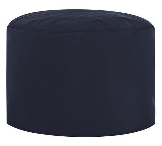POUF Dunkelblau - Dunkelblau, Design, Textil (50/30cm) - Carryhome